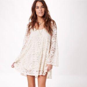 Show me your Mumu cream lace dress sz Small